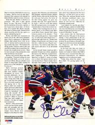 Brett Hull Autographed Magazine Page Photo St. Louis Blues PSA/DNA #U93745