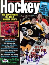 Phil Esposito Autographed Hockey Magazine Cover Boston Bruins PSA/DNA #U93813