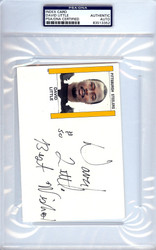 David Little Autographed 4x6 Index Card PSA/DNA #83513352
