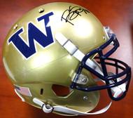 Bishop Sankey Autographed Schutt UW Huskies Full Size Authentic Helmet MCS Holo #40373
