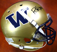 Bishop Sankey Autographed Schutt UW Huskies Full Size Authentic Helmet MCS Holo #40374