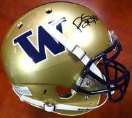 Bishop Sankey Autographed Schutt UW Huskies Full Size Authentic Helmet MCS Holo #40374