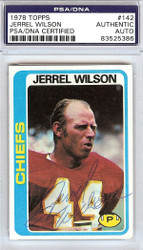 Jerrel Wilson Autographed 1978 Topps Card #142 Kansas City Chiefs PSA/DNA #83525386