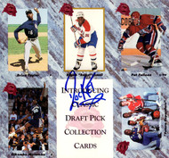 Rocket Ismail Autographed 7x7.5 1991 Draft Pick Collection Uncut Sheet PSA/DNA #W64402