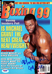 Michael Grant Autographed Boxing '99 Magazine PSA/DNA #W66881