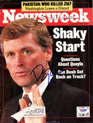 Dan Quayle Autographed Newsweek Magazine PSA/DNA #W66891
