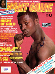 Mark Breland Autographed Fight Game Magazine Cover PSA/DNA #Q95982