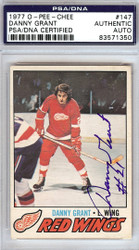 Danny Grant Autographed 1977 O-Pee-Chee Card #147 Detroit Red Wings PSA/DNA #83571350