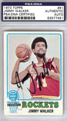 Jimmy Walker Autographed 1973 Topps Card #61 Houston Rockets PSA/DNA #83577491