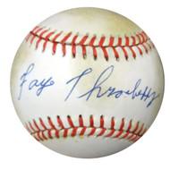 Faye Throneberry Autographed Official AL Baseball Senators, Red Sox PSA/DNA #X23240