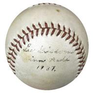 "Lee Grissom Autographed Hutch Baseball Cincinnati Reds ""Cinci Reds 1937"" PSA/DNA #X23708"