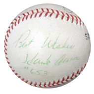 "Hank Aaron Autographed Padres Baseball Atlanta Braves ""Best Wishes & #563"" Vintage PSA/DNA #W05047"