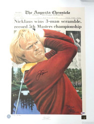 Jack Nicklaus Autographed 20x27 Lithograph 1975 Masters PSA/DNA #Q65194