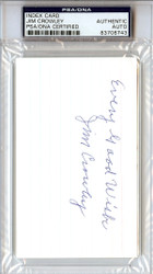 "Jim Crowley Autographed 3x5 Index Card ""Every Good Wish"" Notre Dame Four Horsemen PSA/DNA #83706743"