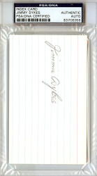 Jimmie Dykes Autographed 3x5 Index Card Chicago White Sox, Philadelphia A's PSA/DNA #83706356