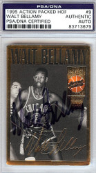Walt Bellamy Autographed 1995 Action Packed HOF Card #9 PSA/DNA #83713679