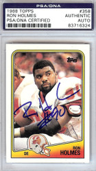 Ron Holmes Autographed 1988 Topps Card #358 Tampa Bay Buccaneers PSA/DNA #83716324
