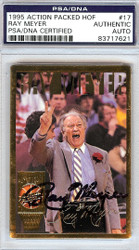 Ray Meyer Autographed 1995 Action Packed HOF Card #17 DePaul Blue Demons PSA/DNA #83717621