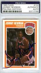 Johnny Newman Autographed 1989 Fleer Rookie Card #102 New York Knicks PSA/DNA #83717788
