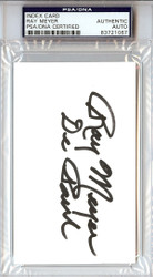 Ray Meyer Autographed 3x5 Index Card PSA/DNA #83721067