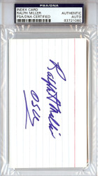 Ralph Miller Autographed 3x5 Index Card Oregon State Beavers Coach PSA/DNA #83721080