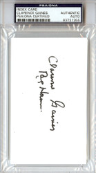 Clarence Gaines Autographed 3x5 Index Card PSA/DNA #83721355