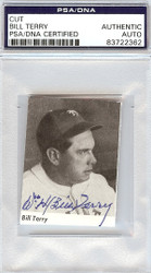Bill Terry Autographed 2x2.5 Cut Signature PSA/DNA #83722362