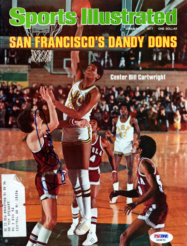 purchase cheap e4224 5d516 Bill Cartwright Autographed Sports Illustrated Magazine San Francisco Dons  PSA/DNA #X59870