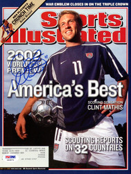 Clint Mathis Autographed Sports Illustrated Magazine Team USA PSA/DNA #X62874