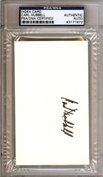 Carl Hubbell Autographed 3x5 Index Card PSA/DNA #83171672