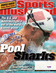 "Megan Quann Autographed Sports Illustrated Magazine ""USA"" PSA/DNA #X65071"