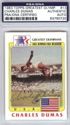 Charles Dumas Autographed 1983 Topps Greatest Olympians Card #13 PSA/DNA #83760720