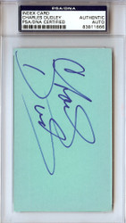 Charles Dudley Autographed 3x5 Index Card Golden State Warriors PSA/DNA #83811666