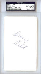 Drew Hill Autographed 3x5 Index Card Houston Oilers PSA/DNA #83811687