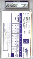 Payne Stewart & Omar Uresti Autographed 3.5x5.5 Scorecard PSA/DNA #83405378