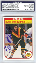 Blair MacDonald Autographed 1982 O-Pee-Chee Card #350 Vancouver Canucks PSA/DNA #83812663