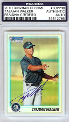 Taijuan Walker Autographed 2010 Bowman Chrome Refractor Rookie Card #BDPP39 Seattle Mariners PSA/DNA #83812785