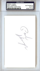 Paul Shmyr Autographed 3x5 Index Card Oilers PSA/DNA #83814105