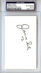 James Silas Autographed 3x5 Index Card Spurs PSA/DNA #83814106