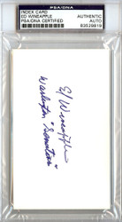 Ed Wineapple Autographed 3x5 Index Card Senators PSA/DNA #83529819