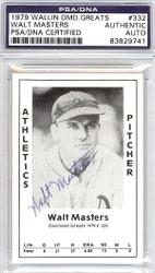 Walt Masters Autographed 1979 Diamond Greats Card #332 A's PSA/DNA #83829741