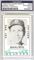 Sammy White Autographed 1979 Diamond Greats Card #248 Boston Red Sox PSA/DNA #83829871