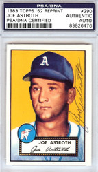 Joe Astroth Autographed 1952 Topps Reprint Card #290 Philadelphia A's PSA/DNA #83826476