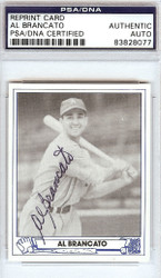 Al Brancato Autographed 1945 Play Ball Reprint Card #22 Philadelphia A's PSA/DNA #83828077