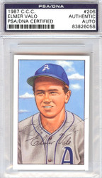 Elmer Valo Autographed 1952 Bowman Reprints Card #206 Philadelphia A's PSA/DNA #83826058