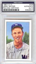 Jerry Snyder Autographed 1952 Bowman Reprints Card #246 Washington Senators PSA/DNA #83826073