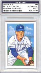 Billy Hitchcock Autographed 1952 Bowman Reprints Card #89 Philadelphia A's PSA/DNA #83826144