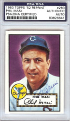 Phil Masi Autographed 1952 Topps Reprint Card #283 Chicago White Sox PSA/DNA #83826641