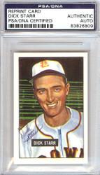 Dick Starr Autographed 1951 Bowman Reprints Card #137 St. Louis Browns PSA/DNA #83826809