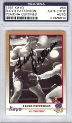 Floyd Patterson Autographed 1991 Kayo Card #50 PSA/DNA #83826936